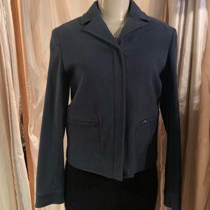 Miu Miu cotton navy dark blue jacket sharp collar